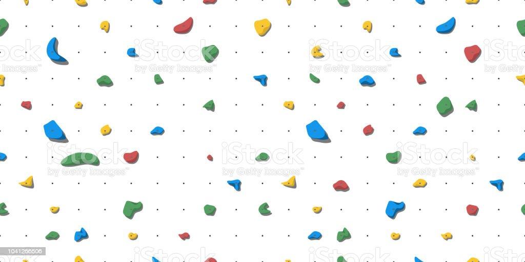 Holds for rock climbing vector art illustration