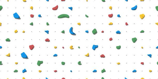 ilustrações, clipart, desenhos animados e ícones de preensões para a escalada de rocha - escalada em rocha