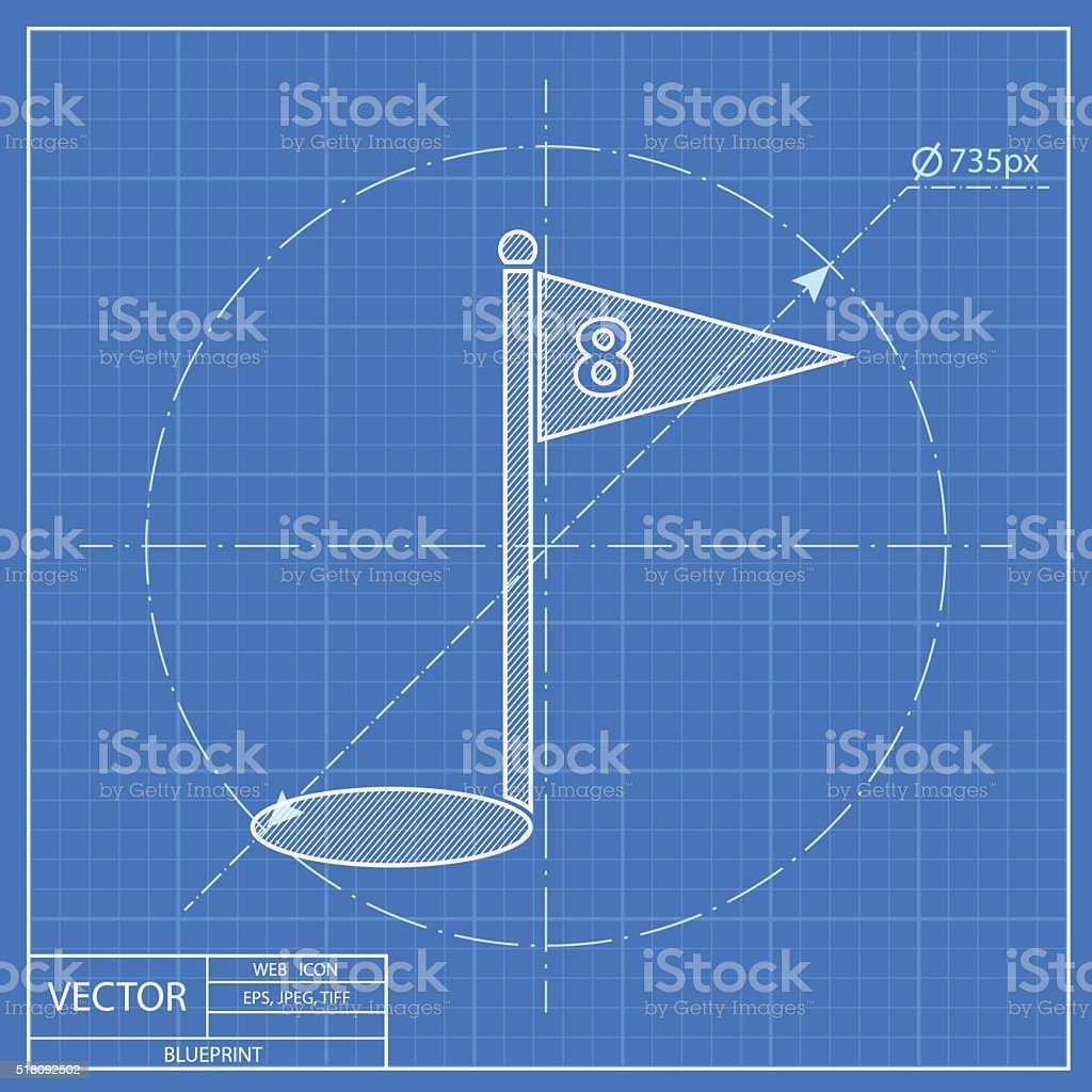 Hole course golf blueprint icon stock vector art 518092502 istock hole course golf blueprint icon royalty free stock vector art malvernweather