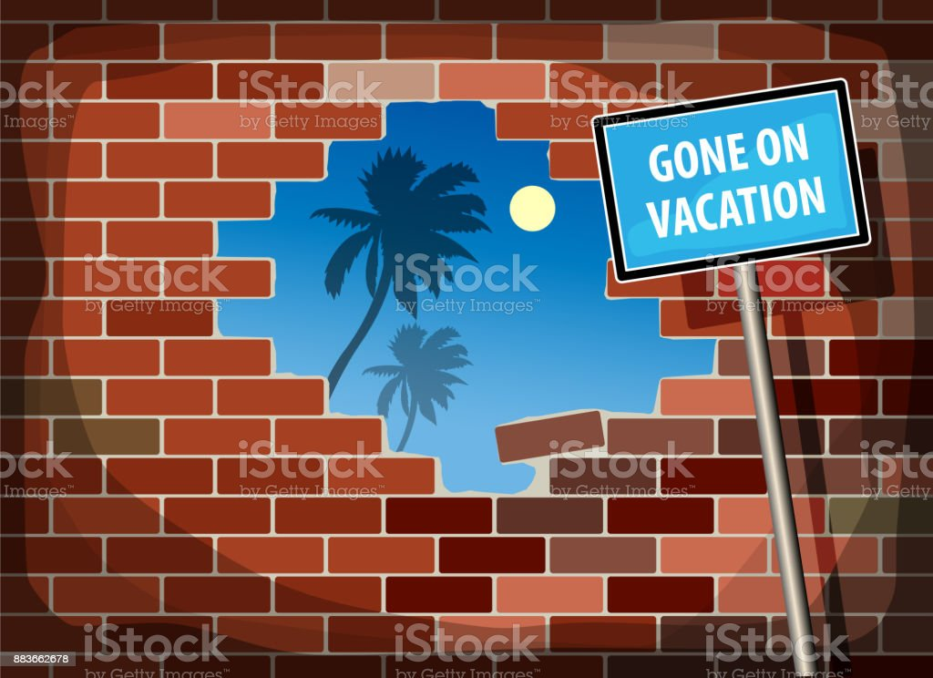 Royalty Free Hole In Brick Wall Clip Art Vector Images