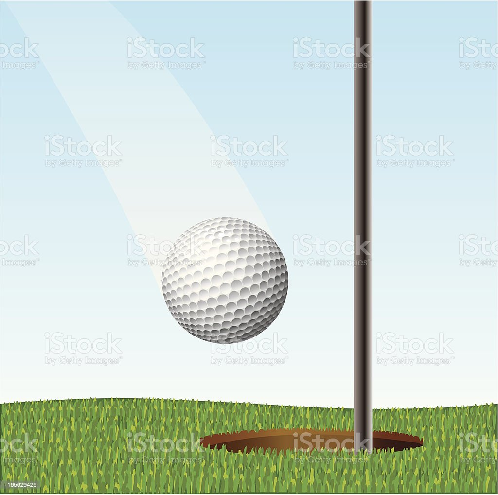 Hole in one vector art illustration