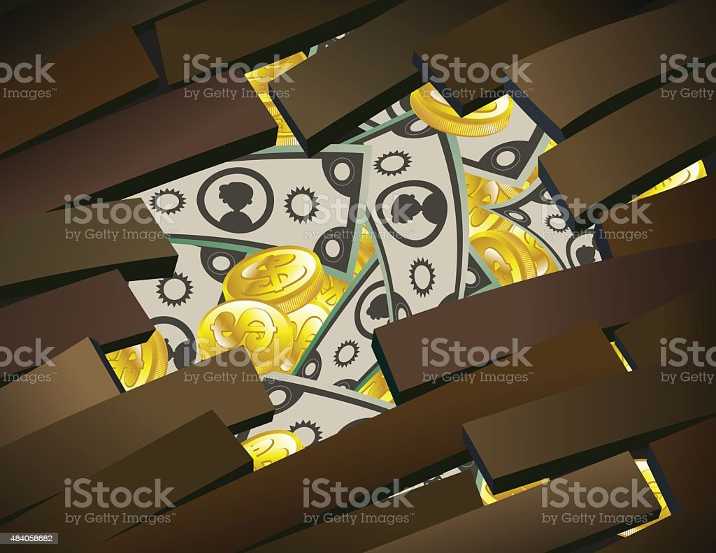 Hole in the floor full of money royalty-free hole in the floor full of money stock vector art & more images of 2015