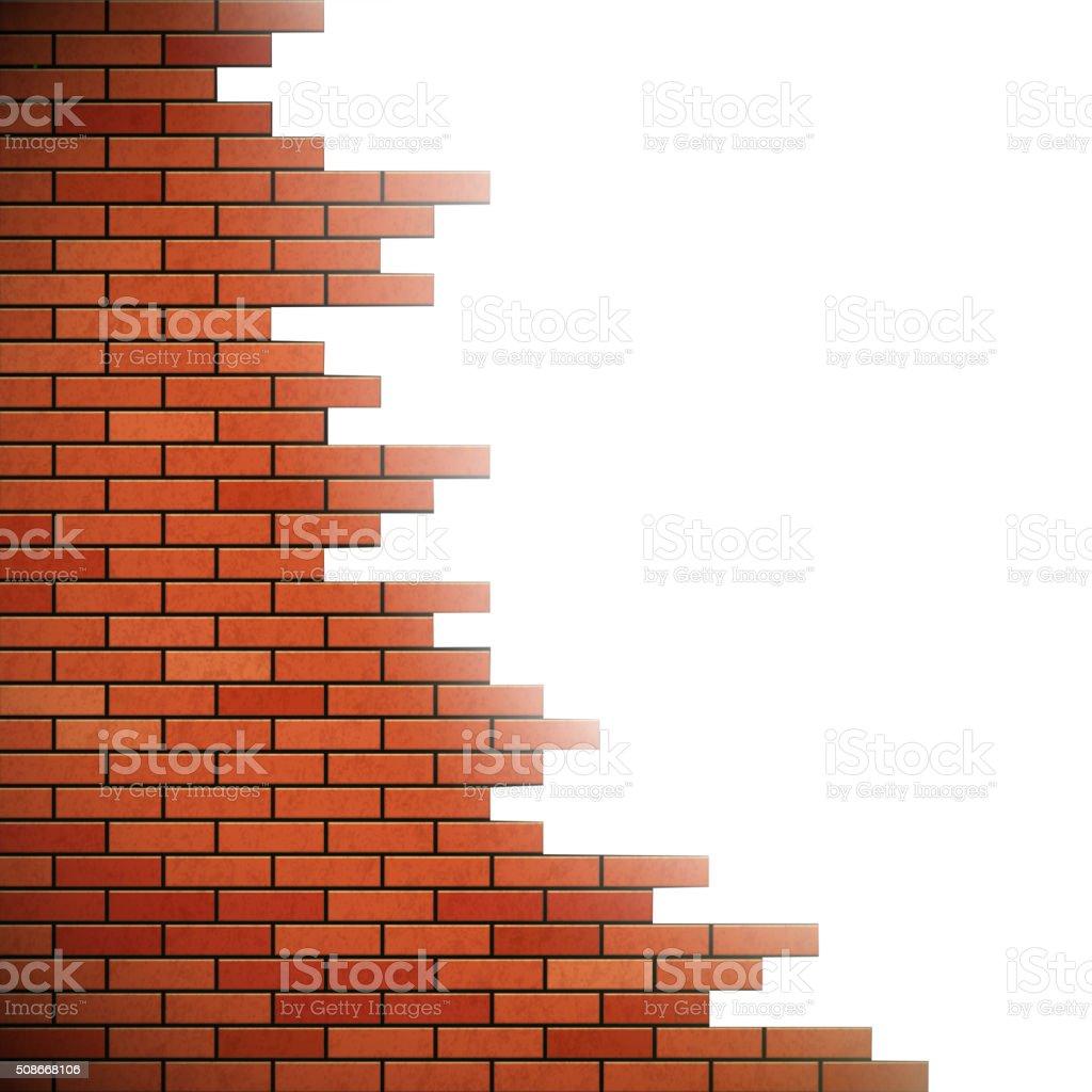 Trou dans le mur. - Illustration vectorielle