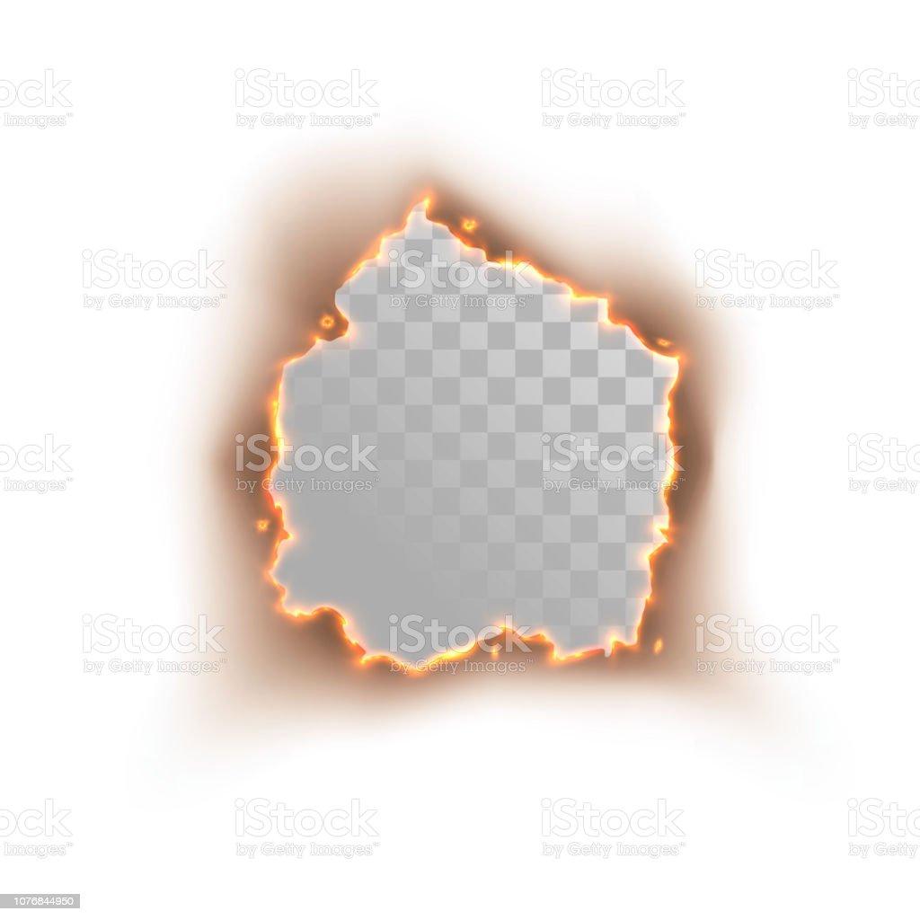 Hole Of Burning Paper Stock Illustration - Download Image