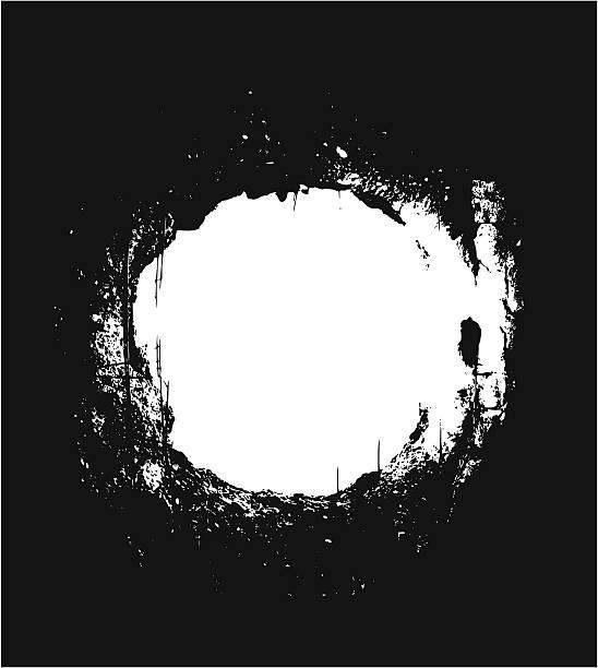 bildbanksillustrationer, clip art samt tecknat material och ikoner med hole over black background - hål