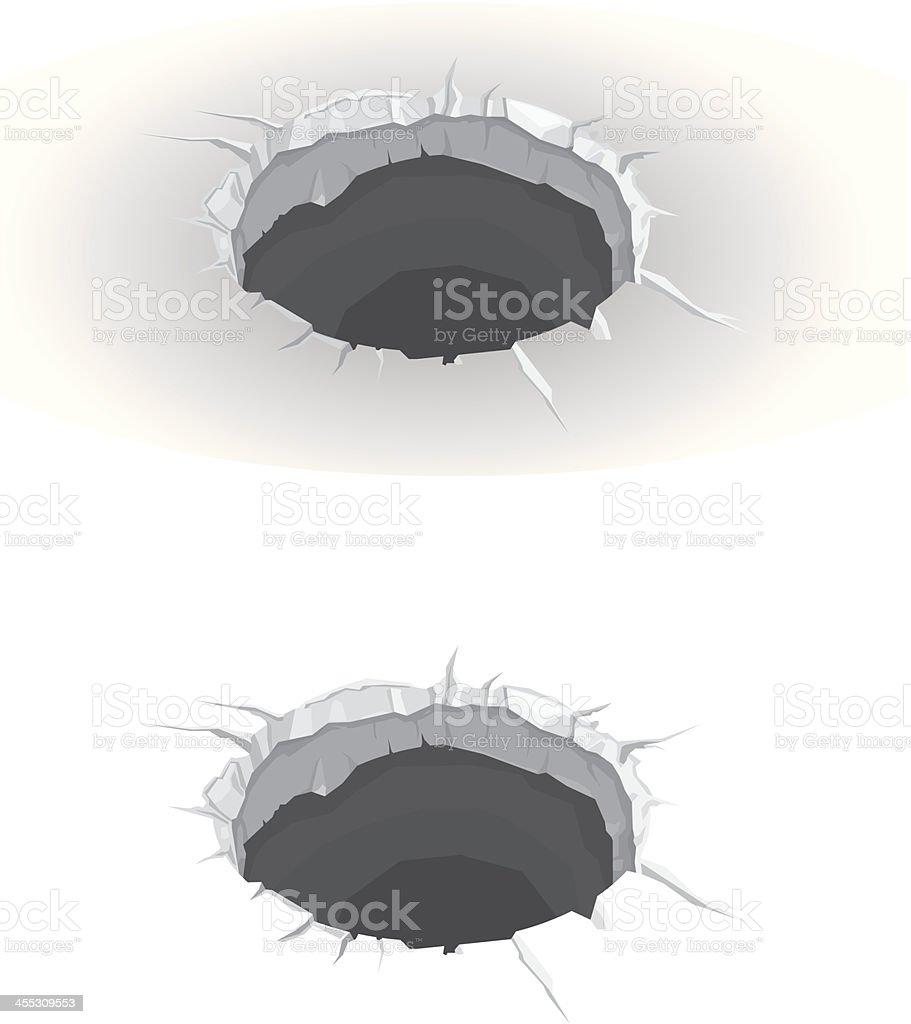 Hole vector art illustration