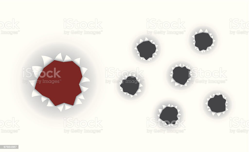 Holes royalty-free holes stock vector art & more images of backgrounds