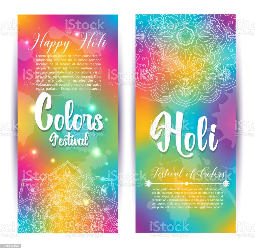 Ilustración De Invitación Tarjeta De Banner Festival Colores