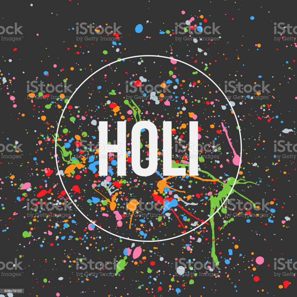 Holi Banner Design for Indian Festival vector art illustration