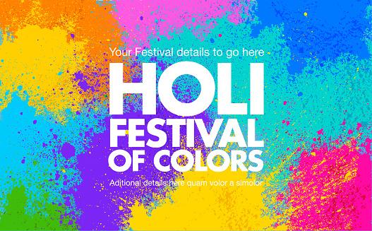 Holi Celebration Card or Poster