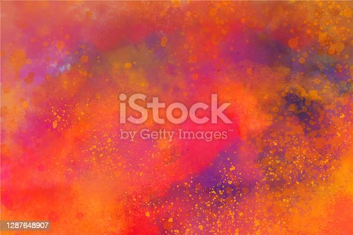 istock Holi Festival Burst of Colors Watercolor Hand Painted Spray Grunge Abstract Background 1287648907