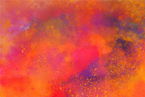 Holi Festival Burst of Colors Watercolor Hand Painted Spray Grunge Abstract Background