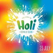 Holi festival poster. Eps10 vector illustration