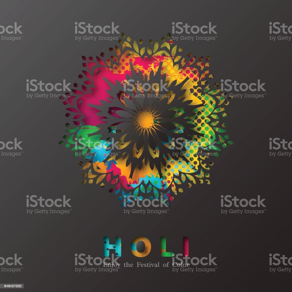 Holi holiday design. vector art illustration