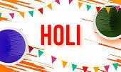 Holi spring festival of colors stock illustration