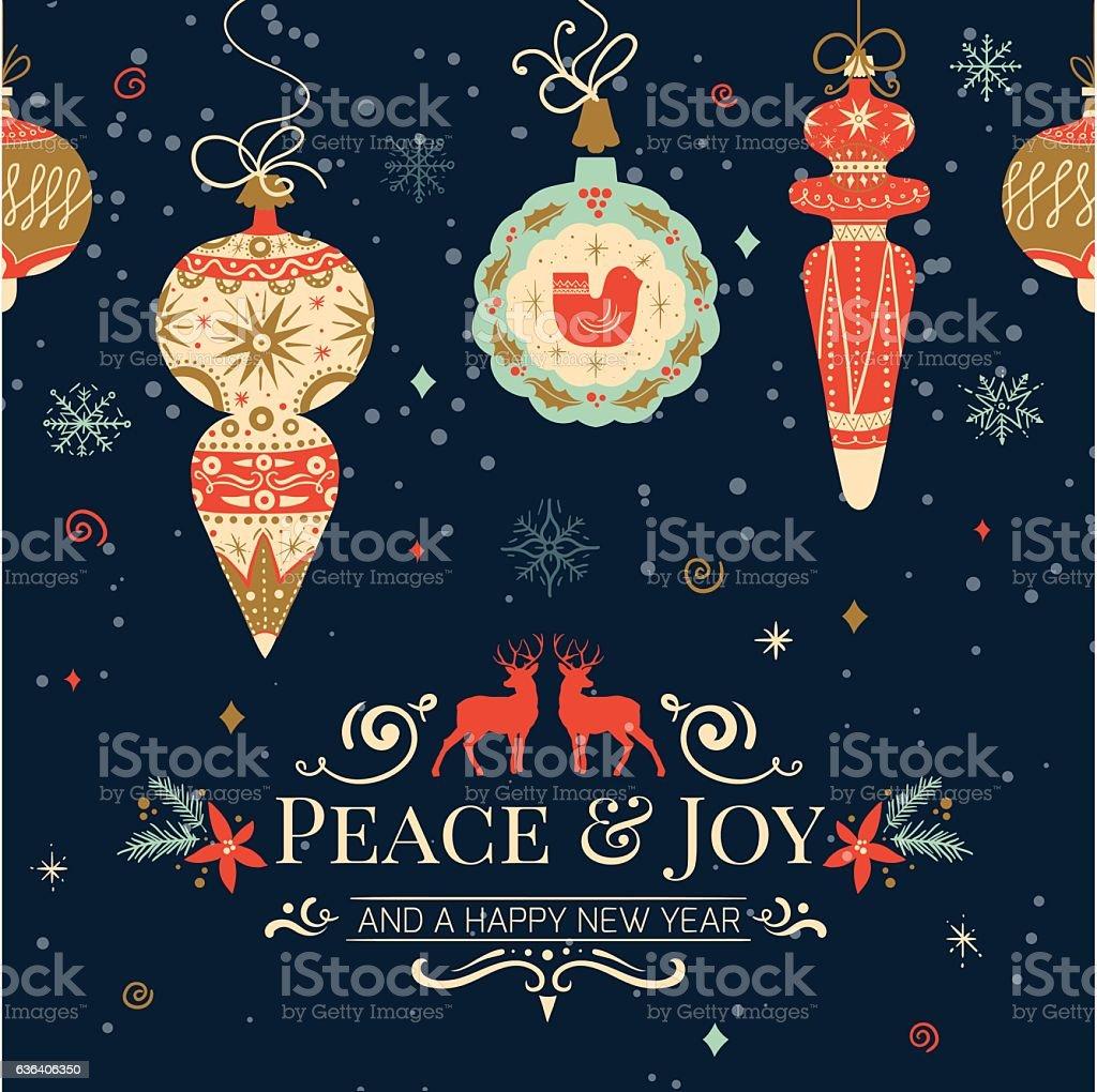 Holiday And Christmas Hand Drawing Greeting Card Stock Vector Art