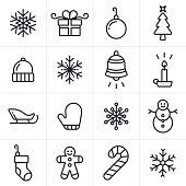 Holiday and Christmas Icons and Symbols