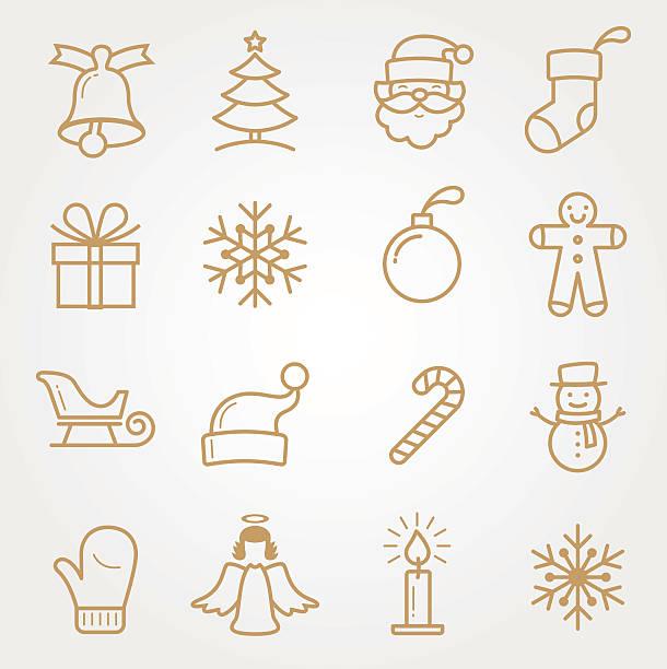 SET Holiday and Christmas Icons SET Holiday and Christmas Icons christmas icons stock illustrations