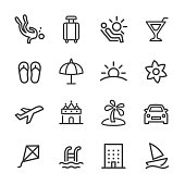 istock Holiday and Summer Icons - Line Series 873223350