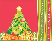 Vector background for winter holiday