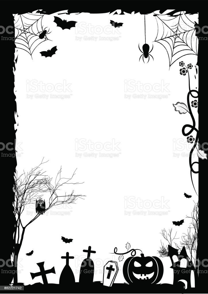 Holiday background for Halloween vector art illustration