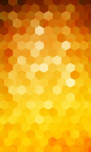 urlaub-hintergrund. sechseck-geometrie-muster. orange farbe. vect - bienenwachs stock-grafiken, -clipart, -cartoons und -symbole
