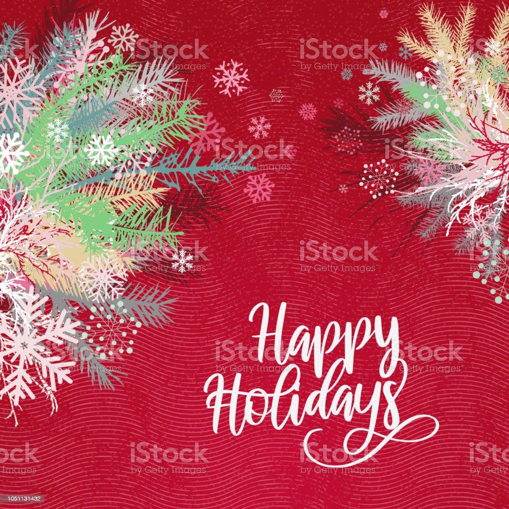 Holiday Background vector art illustration