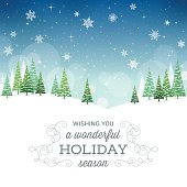 Wintry holiday scene with copy space.EPS 10 file with transparencies.File is layered with global colors.High res jpeg included.More works like this linked below.
