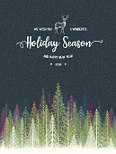 Holiday background, layered illustration, global colors used.