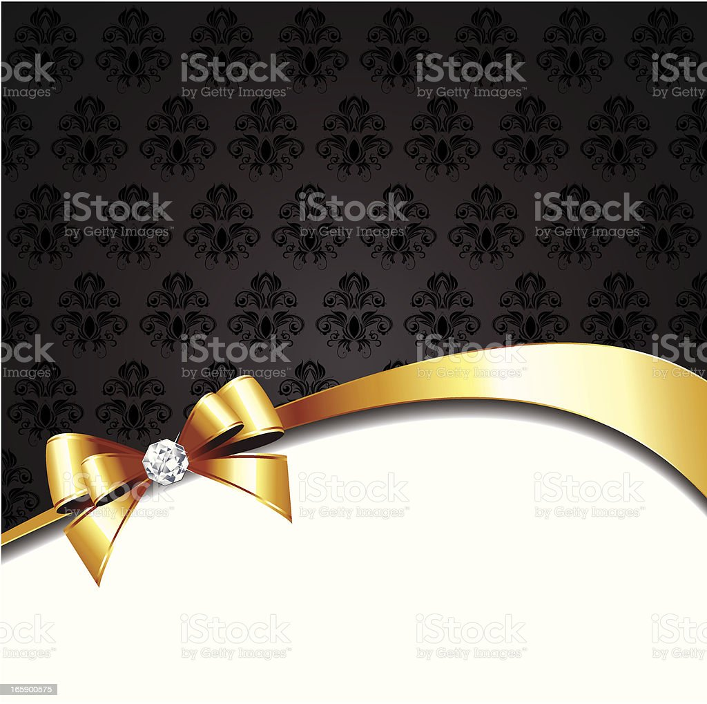 Holiday background with gold bow royalty-free stock vector art