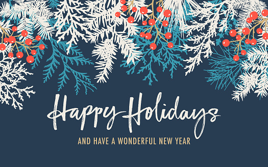 Holiday Background with Greetings