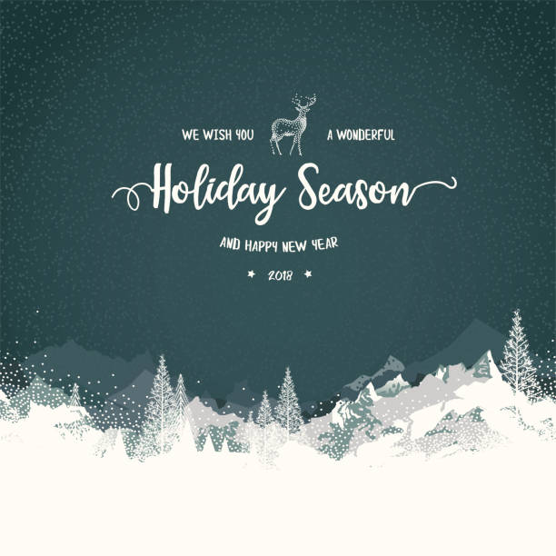 holiday background with mountains - holiday stock illustrations, clip art, cartoons, & icons