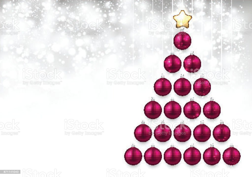 Rosa Weihnachtsbaum.Urlaubhintergrund Mit Rosa Weihnachtsbaum Stock Vektor Art Und Mehr