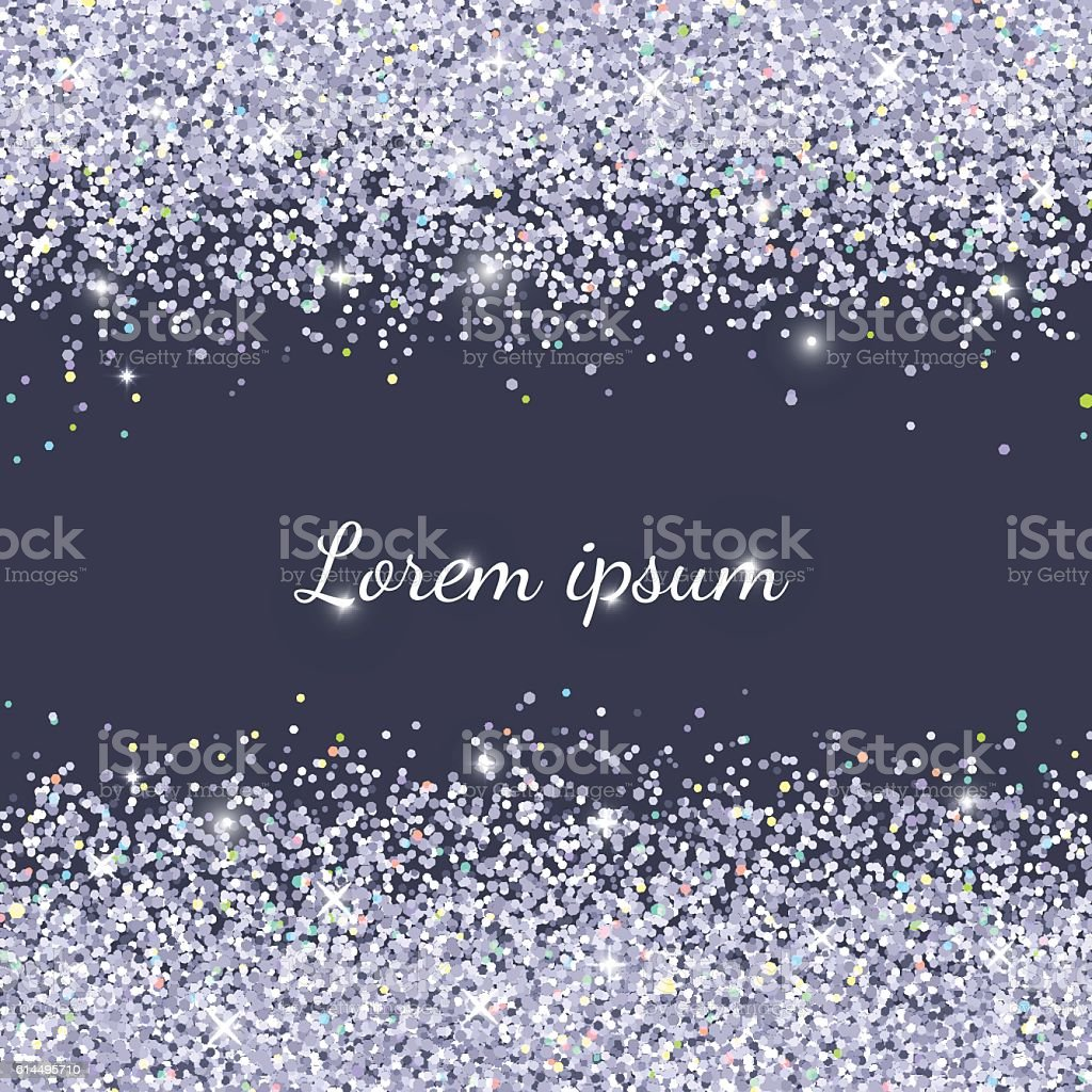 Holiday background with silver glitter. Vector illustration vector art illustration