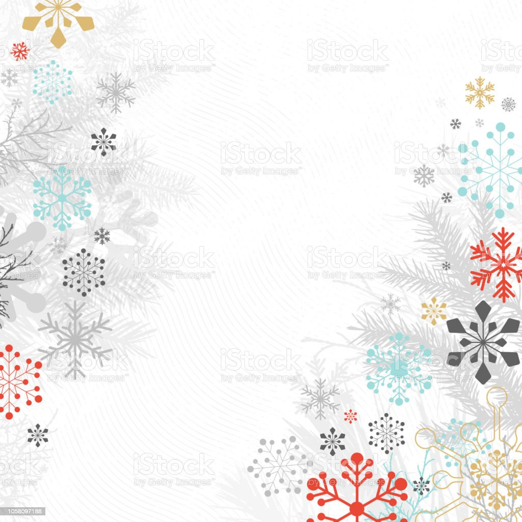 holiday background with snowflakes stock vector art more images of