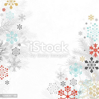 Christmas background, layered illustration. Global colors used. Easy to edit.