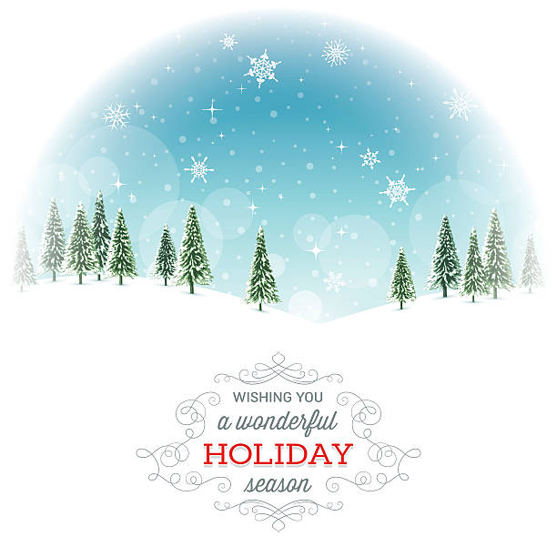 Holiday Background with Text vector art illustration