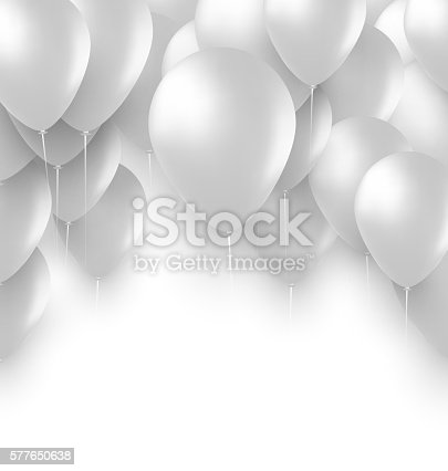 Holiday Background With White Balloons Stock Vector Art ...