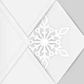 Background with paper snowflake and envelope. EPS10 vector illustration