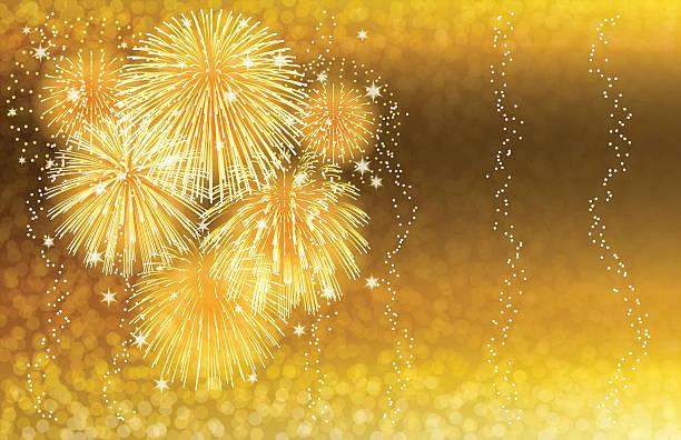 bildbanksillustrationer, clip art samt tecknat material och ikoner med holiday background[fireworks in the champagne] - vin sommar fest