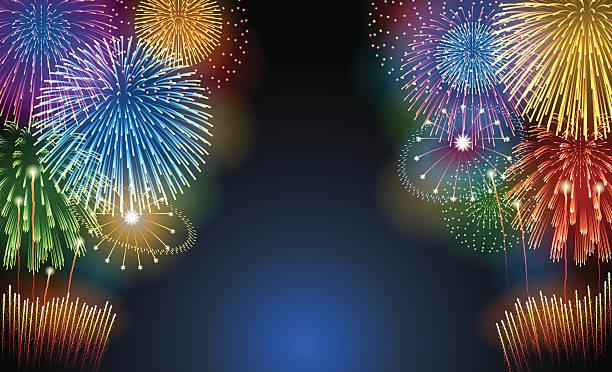 ホリデーの背景[花火] - 夏点のイラスト素材/クリップアート素材/マンガ素材/アイコン素材