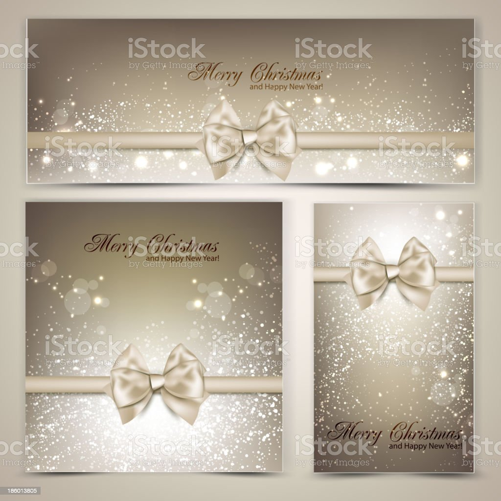Holiday banners with ribbons. Vector background. royalty-free holiday banners with ribbons vector background stock vector art & more images of abstract