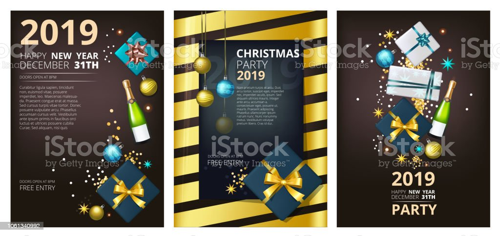 Holiday Brochure Template Corporate Greeting Card Party New