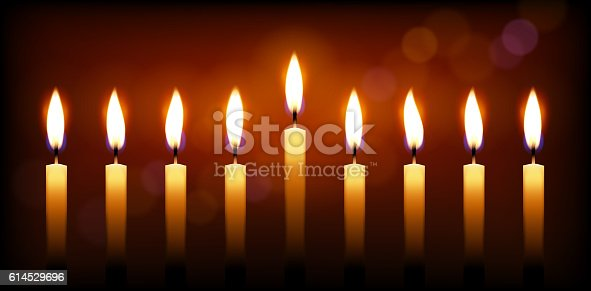 Holiday candles and candle light