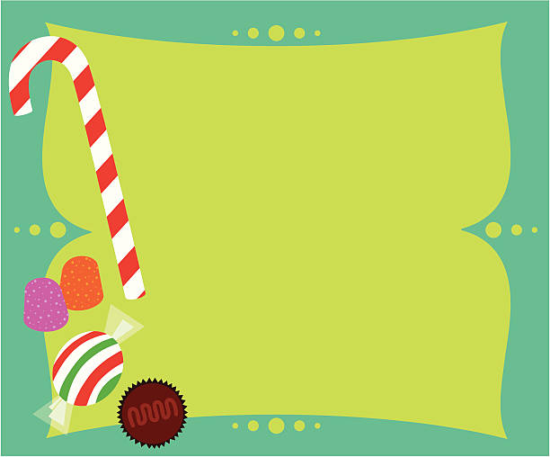 Holiday Candy Traditional holiday candy with space ready for your copy. Editable vector file with no gradients. gum drop stock illustrations
