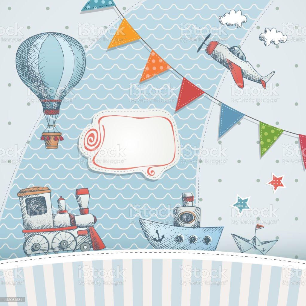 Holiday card design. vector art illustration