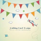 Holiday card design.
