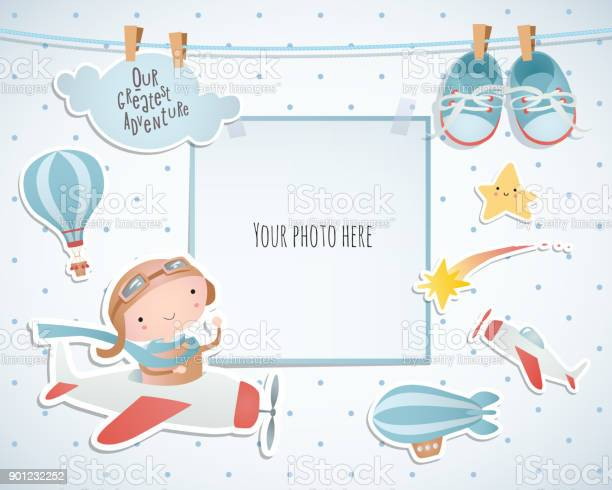 Holiday card design with balloon and plane baby shower paper vector id901232252?b=1&k=6&m=901232252&s=612x612&h=q26wdwxcjrtxwgfshigaszm00sk jy5i1jzds mjcfw=