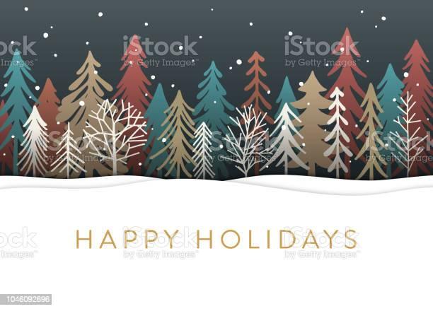 Holiday card with christmas trees vector id1046092696?b=1&k=6&m=1046092696&s=612x612&h=qbh7csg022nrlwb1s1 lmbymsjya ol64ilf 9rbly0=