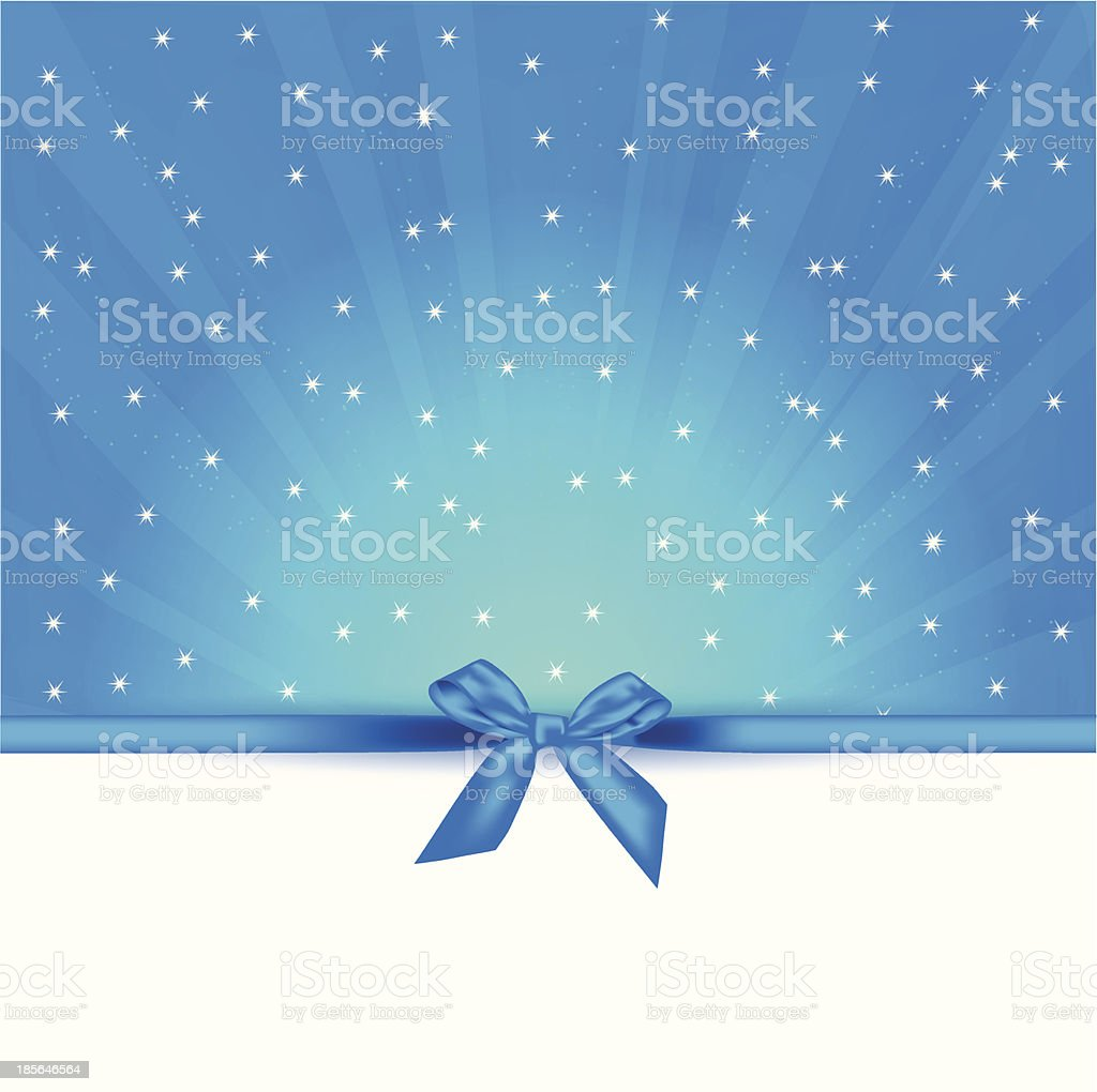 holiday card with gift bow royalty-free stock vector art
